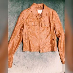 XHILIRATION Tan Faux Leather Jacket